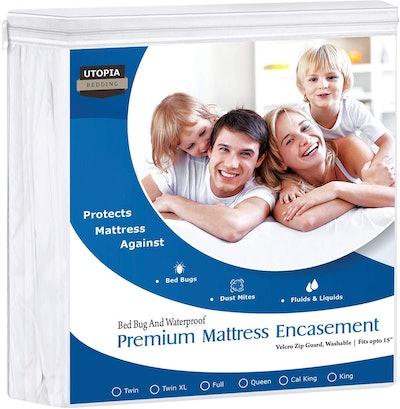 Utopia Bedding Waterproof Mattress Encasement, Full