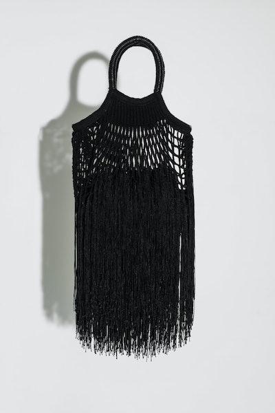Black Mini Fringe Bag