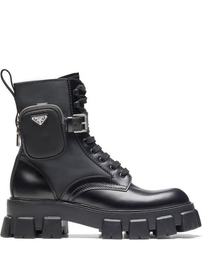 Ankle Pouch Combat Boots