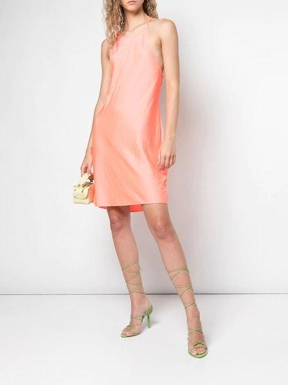 Salmon Pink Strappy Slip Dress