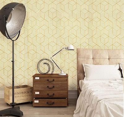 CoCoWind Hexagon Peel and Stick Wallpaper