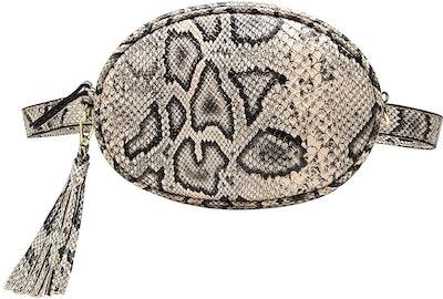 Badiya Snakeskin Fanny Pack