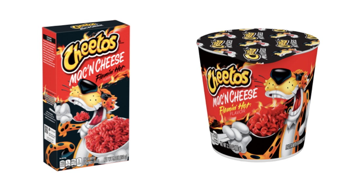 Cheetos-Flavored Mac 'N Cheese Now Exists, & It's Available In Flamin' Hot