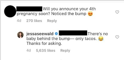 Jessa Duggar wrote in an Instagram post that she is not pregnant.