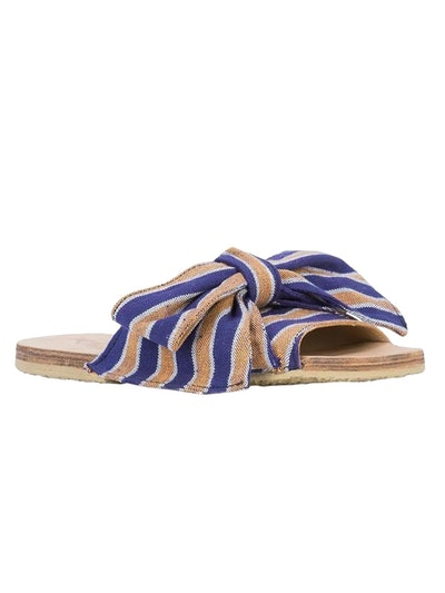 Burkina Striped Sandal Blue/ Orange