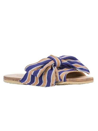Burkina Striped Sandal Blue/ Orange