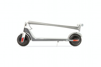 Model One scooter folded flat