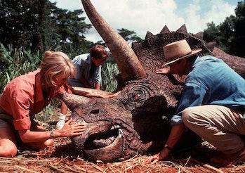 jurassic park triceratops scene
