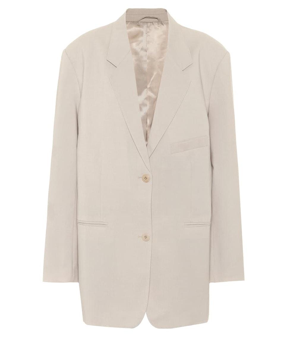 Pernille single-breasted crêpe blazer