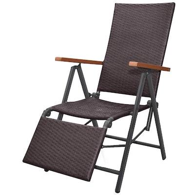 Reclining Woven Deck Chair