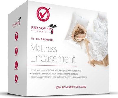 Red Nomad Bug Proof & Allergy Reduction Mattress Encasement, Full
