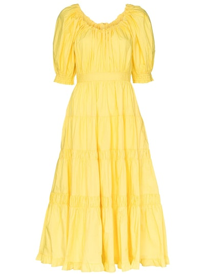 Colette Puff Sleeve Flared Dress