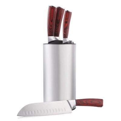 Hiware Stainless Steel Universal Knife Block
