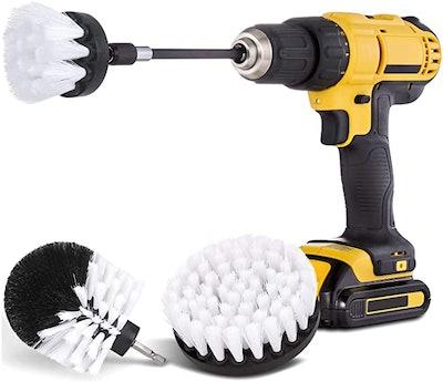 Hiware Drill Brush Car Detailing Kit (4 Pieces)