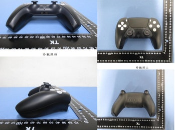 A black version of the PlayStation 5 controller.