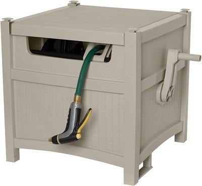 Suncast Resin Outdoor Hideaway Storage Reel