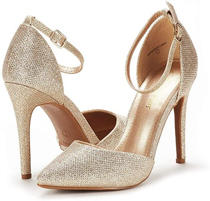 DREAM PAIRS Oppointed-Lacey Pump Shoe