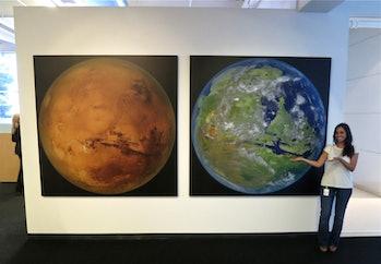 A terraformed Mars.