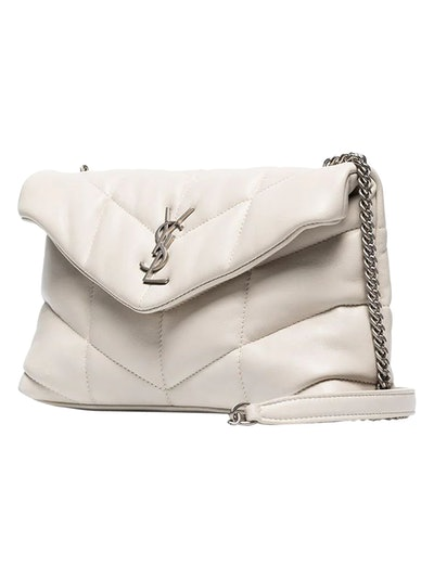 Quilted Mini Loulou Bag Crema Soft