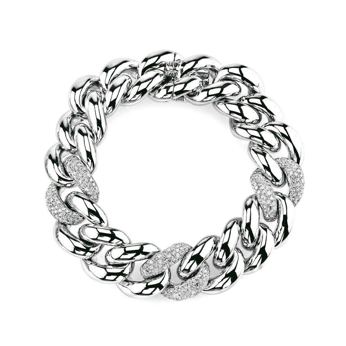 Triple Pave Jumbo Link Bracelet