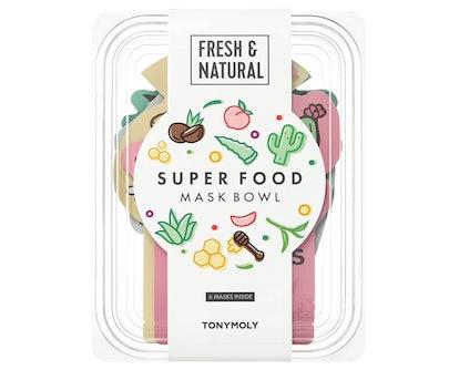 TONYMOLY Super Food Mask Bowl (Pack of 6 Masks)
