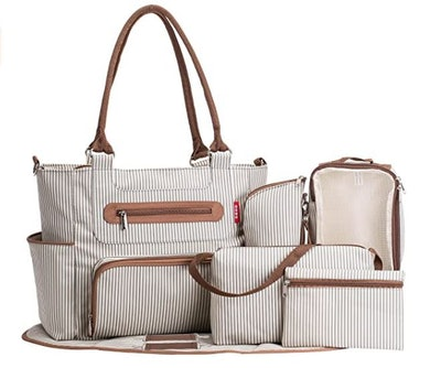 SoHo Collection Grand Central Station Diaper Bag Set