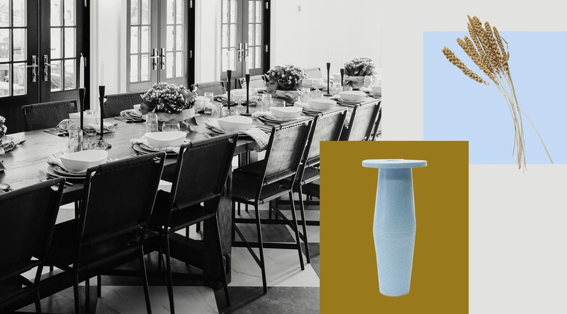 Refresh your dining room for summer with a beautiful vase and greenery