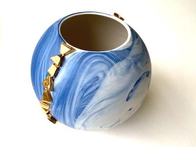Marble Porcelain Vase