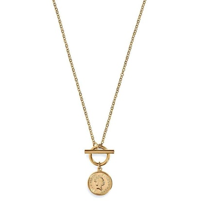 Lizzie Coin Toggle Necklace