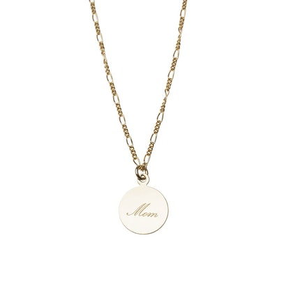 Gold Circle Disc Necklace