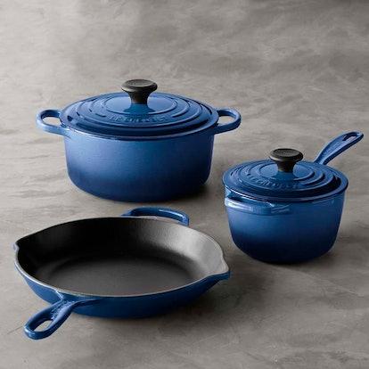 Le Creuset Signature Enameled Cast Iron 5-Piece Cookware Set
