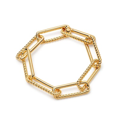 Gold Half Radial Chunky Chain Bracelet