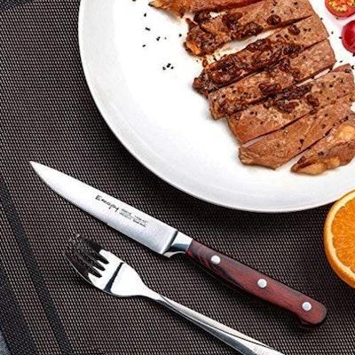 Emojoy Serrated Steak Knife Set (8 Pieces)