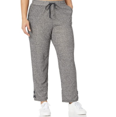 JUST MY SIZE Women's Plus Size Jogger with Lace-up Legs