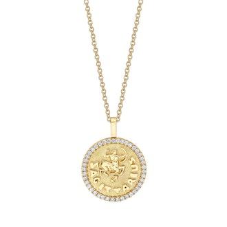 Sagittarius Zodiac Coin Pendant
