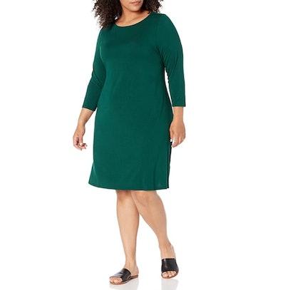 Amazon Essentials Plus Size Boat Neck Dress