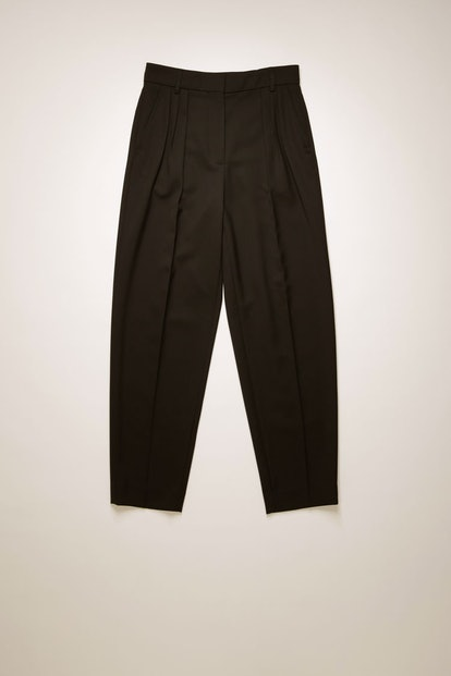 Pleated Tapered-Leg Trousers