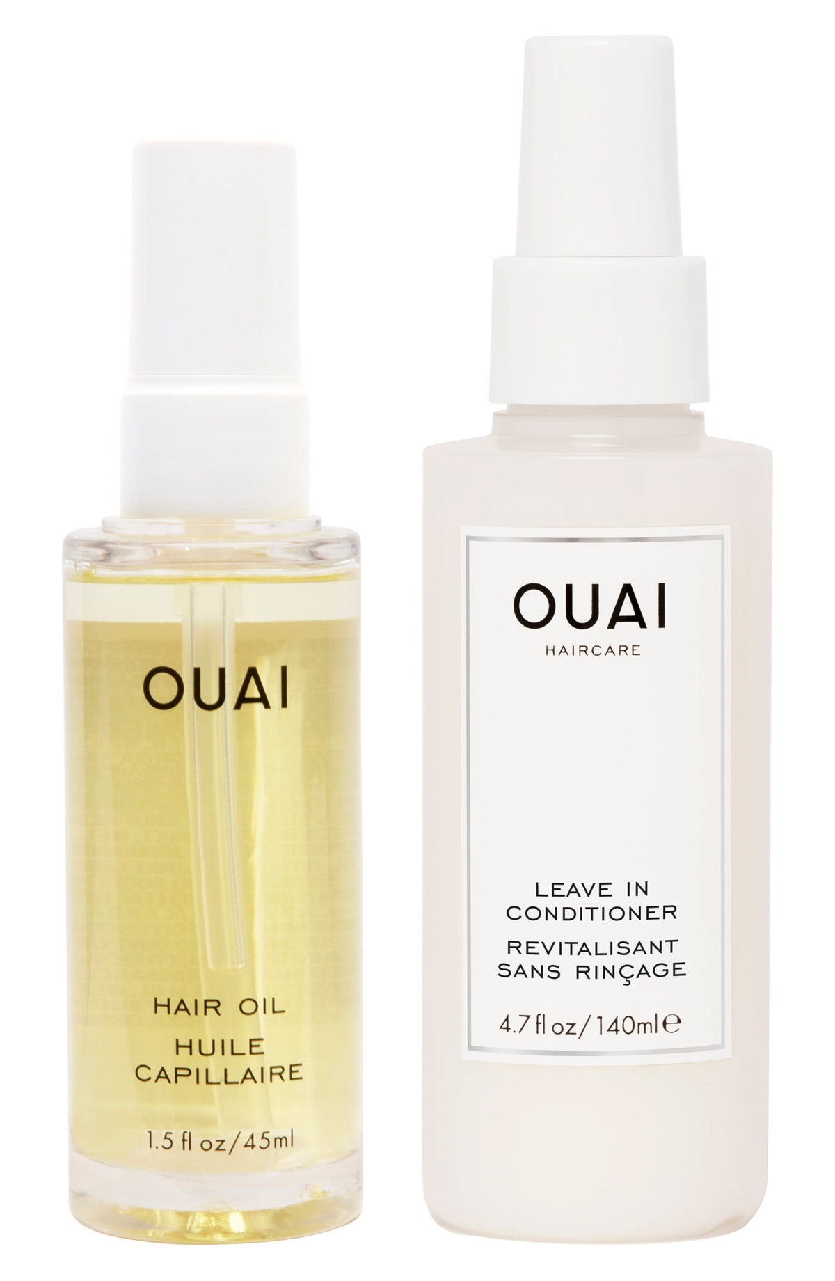 OUAI Thirsty Hair Oil & Leave-In Conditioner Kit