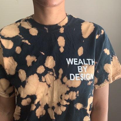 Mofokela Hand Dyed Custom Black Bleach Dye Shirt