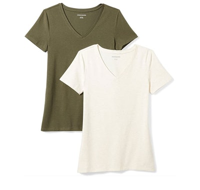 Amazon Essentials V-Neck T-Shirt (2-Pack)