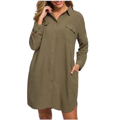 MANAIXUAN Shirt Dress