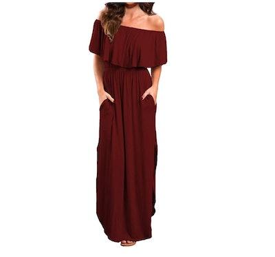 VERABENDI Off Shoulder Maxi Dress