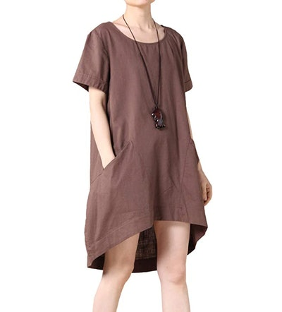Mordenmiss Cotton Linen Tunic Top