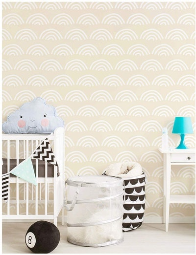 HaokHome Scallop Peel and Stick Wallpaper