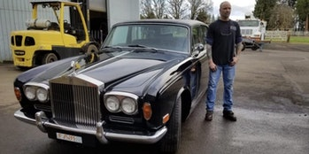 Rolls-Royce retrofitted with an electric motor.