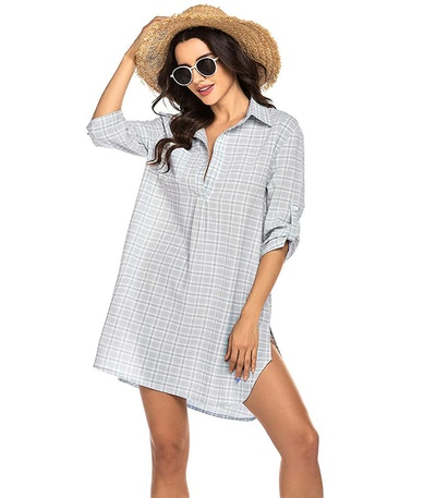 Ekouaer Swimsuit Beach Cover Up