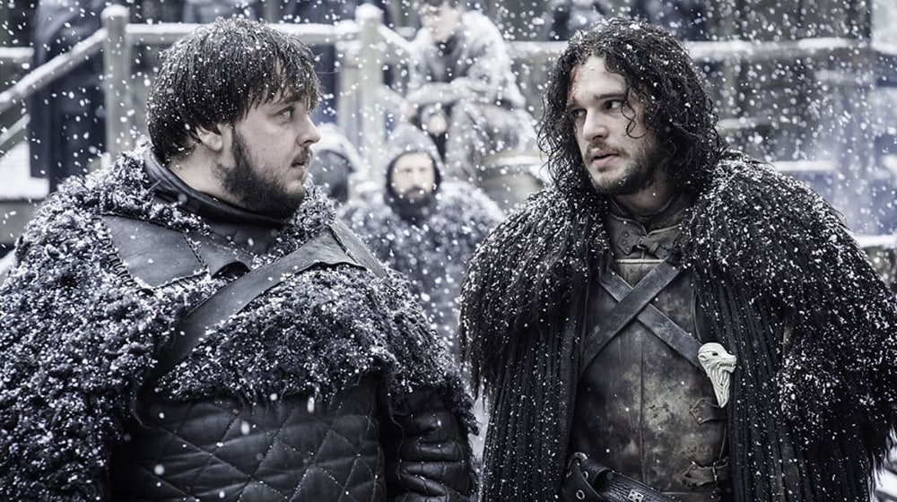 jon snow samwell game of thrones winds of winter