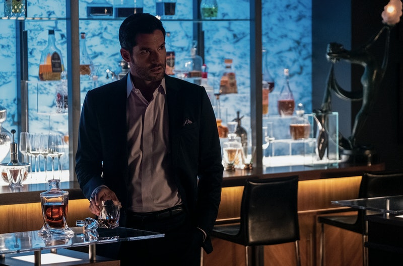 Tom Ellis in Lucifer Season 4 via the Netflix press site.