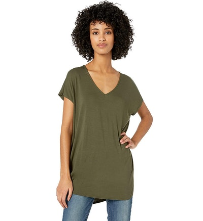 Daily Ritual Jersey Dolman-Sleeve V-Neck Tunic