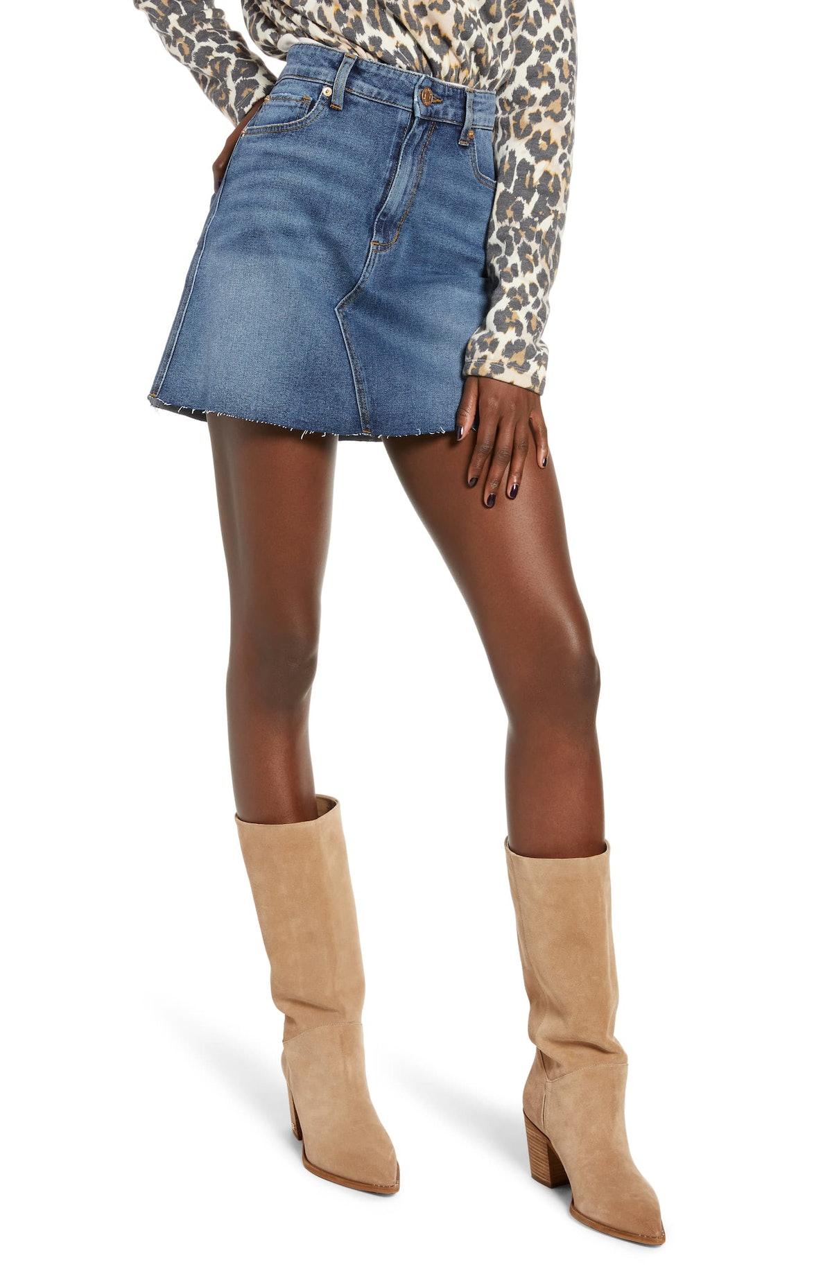 STS Blue Emily Stretch Denim Miniskirt